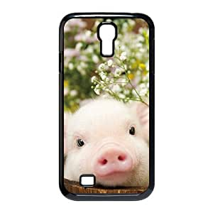 Cute pet baby pig Hard Plastic phone Case Cover For SamSung Galaxy S4 Case XFZ396518