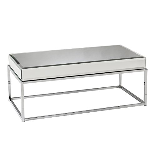 Southern Enterprises AMZ0729KC Dana Mirrored Cocktail Table