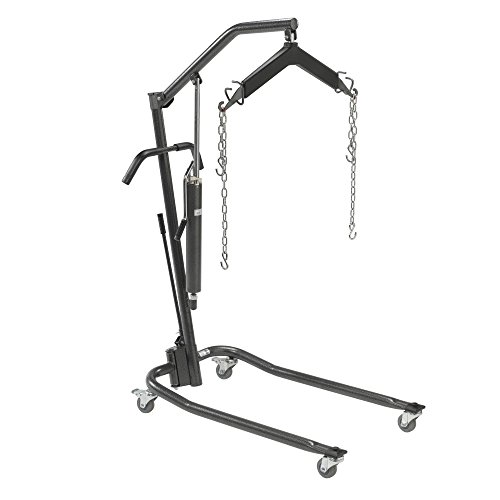 Drive Medical Hydraulic Patient Lift with Six Point Cradle, Silver Vein, 3 Inch