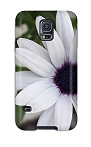 Shockproof/dirt-proof White Flowers Cover Case For Galaxy(s5)