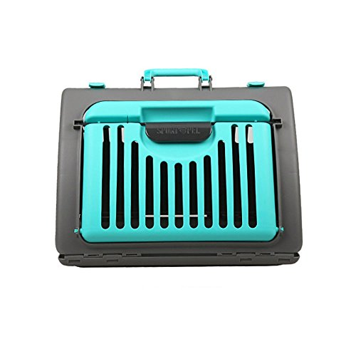 PRESELF Foldable Pet Cat Carrier, Small Dog Crate/Cat Crate,Portable Cats Travel Vet Cage