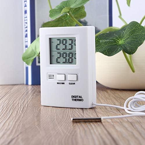 Affichage LCD numérique Thermomètre Compteur de température Testeur Accueil Intérieur Extérieur C/F Conversion de température Blanc