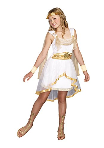 SugarSugar Girls Miss Olympian Costume, One Color, Large, One Color, Large (Roman Girl Costume)