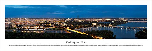 Washington, DC at Twilight - Blakeway Panoramas Unframed Skyline Posters