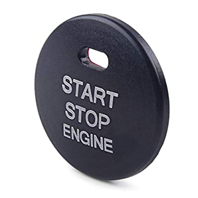 LETAOSK Black Aluminum Alloy Start Stop Push Button Cover Trim Fit for Hyundai Elantra MD Sonata i45 YF: Automotive