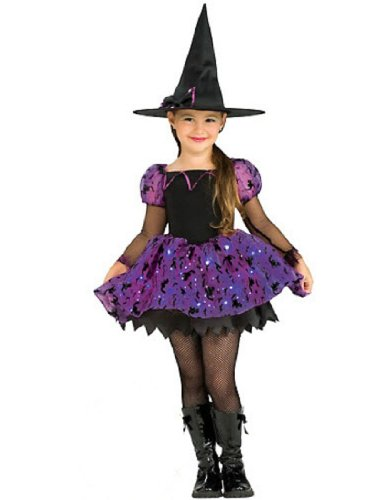 Child's Moonlight Magic Costume with Fiber Optic Light Twinkle Skirt - Medium (Halloween Costumes Put Together At Home)