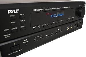 Pyle PT588AB Receptor Casa 5.1 canales con radio AM / FM, HDMI y ...