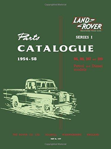 Land Rover PC Series 1 Models Parts Catalog 1954-1958