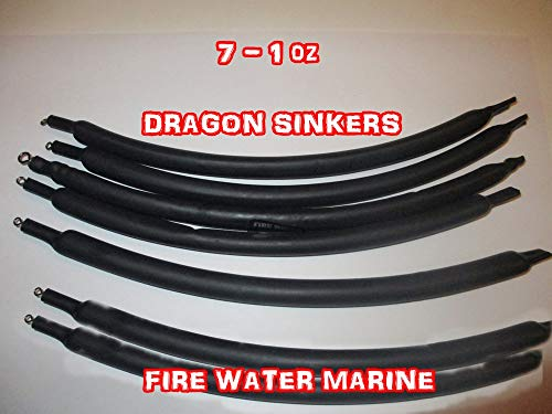 (Firewatermarine DRAGGING Drift SINKERS Flexible SNAGLESS Catfish Bottom Bouncing 1oz 2oz 4oz (1))