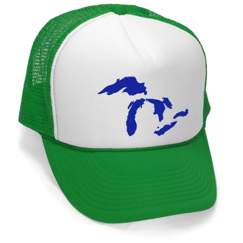 Price comparison product image GREAT LAKES - funny joke party gag Mesh Trucker Cap Hat,  Green