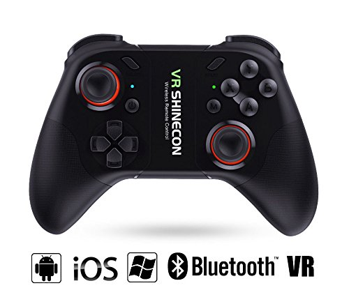HIMOO Bluetooth Wireless Gaming Controller Gamepad Ergonomic Design Angle-adjustable Rechargeable Battery for Android/iOS/Windows/VR/Smart TV/Tablet