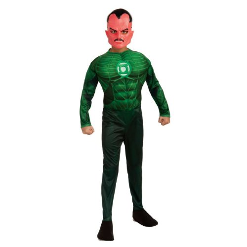 Green Lantern Child's Deluxe Sinestro Costume With Muscle Chest