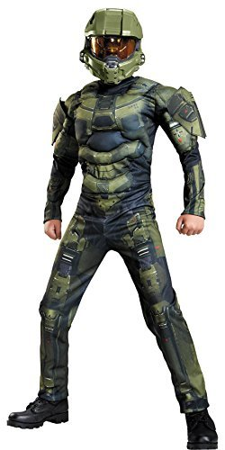 Master Chief Classic Military Soldier Child Outfit Halloween Costume, Child M -
