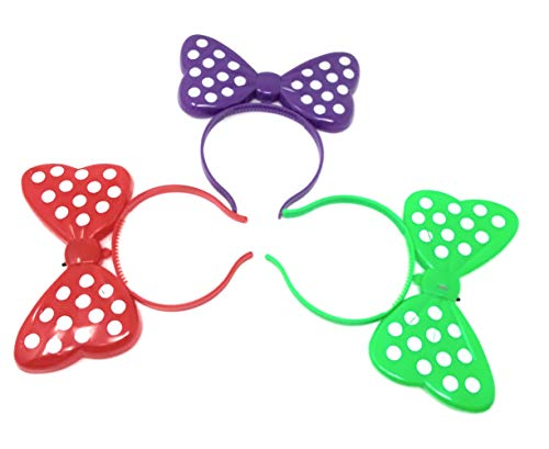 3 Best & Unique LED Flashing Blinking Bright Light up Minnie Mouse Ears (Colors May Vary)]()