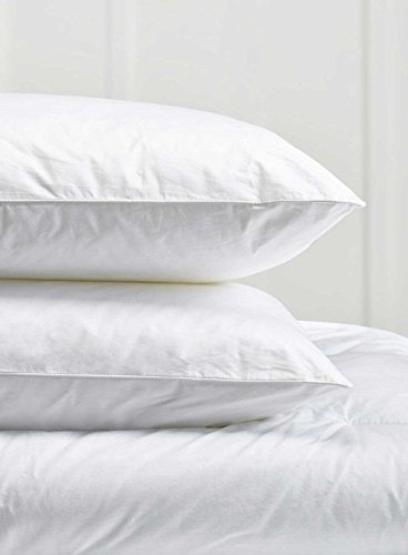 Pair Of Luxury Goose Feather Pillows with 85% Feather 15% Down 100% Cotton...