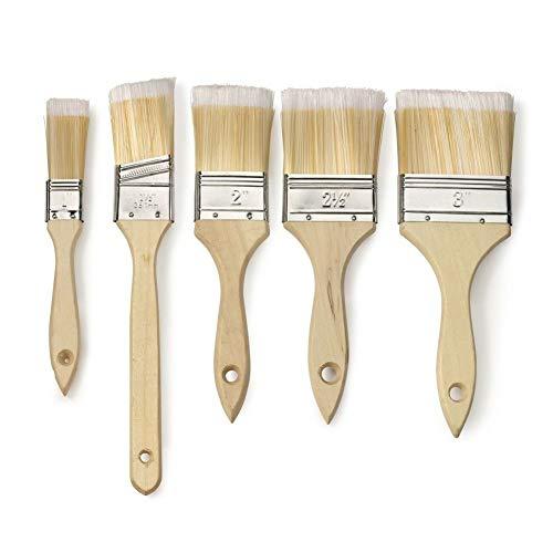 - Paint Brush Set | Variety Pack Straight Wood Handle Soft Bristles Tip