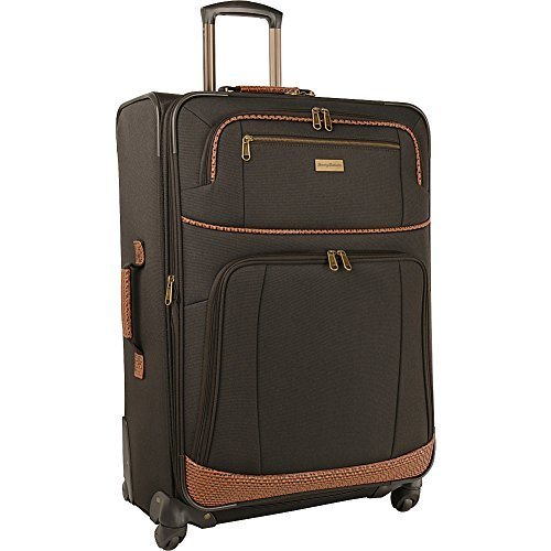 "Tommy Bahama 28"" Expandable Spinner Suitcase, Dark Brown"