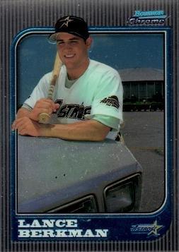 1997 Bowman Chrome Baseball #298 Lance Berkman Rookie Card