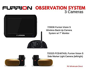 RV Wholesale Direct Furrion Observation Bundle w 7 inch Monitor and 3 Cameras