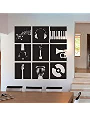 Music Wall Decals for Living Room, Home Decor, Waterproof Wall Stickers , 2724464559536