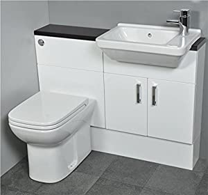 fitted bathroom furniture white gloss slimline gloss white fitted bathroom furniture 1100mm 23154