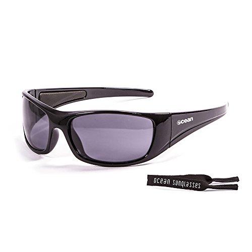 Ocean Sunglasses - Bermuda - lunettes de soleil polarisées  - Monture : Noir Laqué - Verres : Fumée (3400.1)
