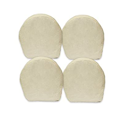 """ABN Canvas Wheel Covers - 29"""", 32"""" & 42"""" Inches, Set of 4, Best for RV, Car, Camper, Trailer, Truck, SUV"""