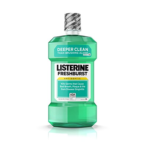 Listerine Freshburst Antiseptic Mouthwash with Germ-Killing Oral Care Formula to Fight Bad Breath, Plaque and Gingivitis, 1.5 L