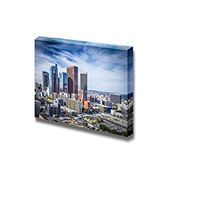 Canvas Prints Wall Art - Los Angeles, California, USA Downtown Cityscape. | Modern Wall Decor/Home Decoration Stretched Gallery Canvas Wrap Giclee Print & Ready to Hang - 24
