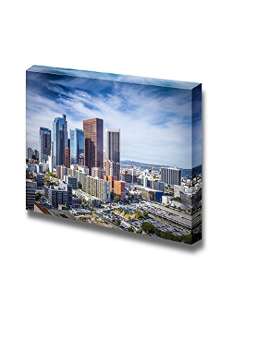 Canvas Prints Wall Art - Los Angeles, California, USA Downtown Cityscape. | Modern Wall Decor/Home Decoration Stretched Gallery Canvas Wrap Giclee Print & Ready to Hang - 16