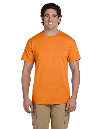 Gildan Men's Taped Neck Preshrunk Jersey T-Shirt, Tangerine, 3XL