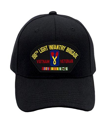 (Patchtown 196th Light Infantry Brigade - Vietnam Hat/Ballcap (Black) Adjustable One Size Fits)