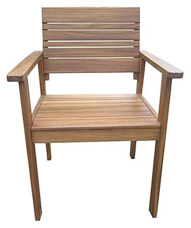 Terrassenmöbel lounge holz  Amazon.de: greemotion 128645 Gartenstuhl MAUI aus Holz-Holzstuhl ...