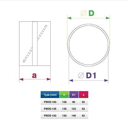 100/mm Abluftventilator mit Gravitations-Klappen wei/ß