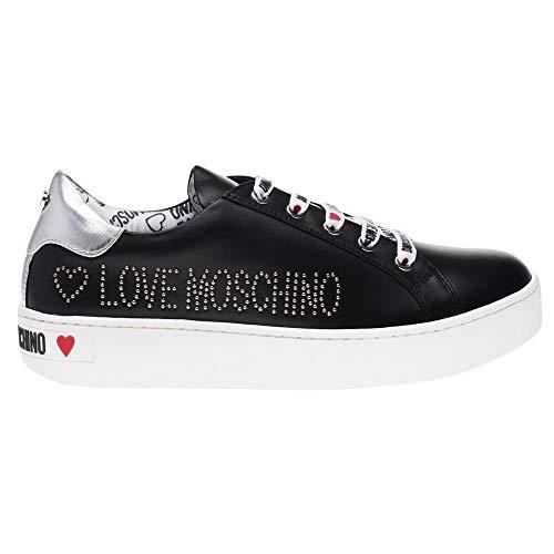 Donna Black Scarpad cassetta35 Sneaker Moschino Love wzcFBqIx
