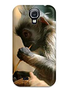 New Premium EvMoPQw14399JLjpT Case Cover For Galaxy S4/ Silveredleaflangur Protective Case Cover
