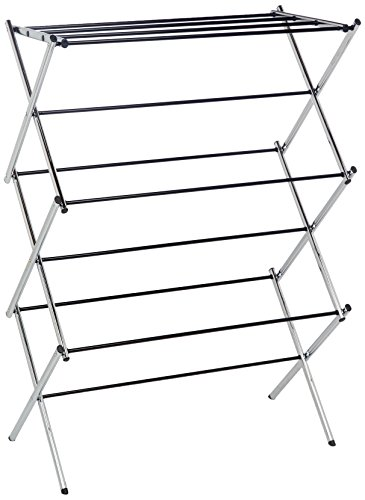 (AmazonBasics Foldable Clothes Drying Laundry Rack -)