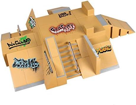 NA RipengPI 11 pi/èces Skate Park Kit Rampe Pi/èces pour Tech Deck Touche Mini Doigt Skateboard Enfants Cadeau