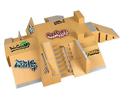 JAGENIE 11pcs Skate Park Kit Ramp Parts for Tech Deck Fingerboard Mini Finger Skateboard