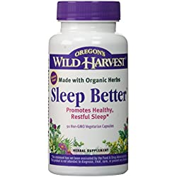Oregon's Wild Harvest Sleep Better Organic Supplement, 90 Count vegetarian capsules