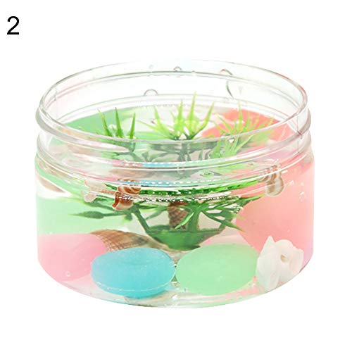 Quietcloud Slime Handmade Color Mud Seaweed Underwater World Glow in Dark Transparent Slime Putty Stretchy Kids Toys 2#
