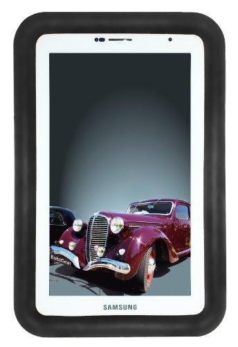 Bobj Rugged Case for Samsung 7-inch Galaxy Tab 2 and Galaxy Tab Plus Wi-Fi and 3G/4G Models (Not for Tab3) - BobjGear Custom Fit - Sound Amplification - BobjBounces Kid Friendly - Bold Black