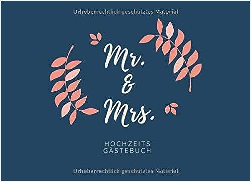Mr Mrs Hochzeits Gästebuch Gästebuch Liniert Für Die