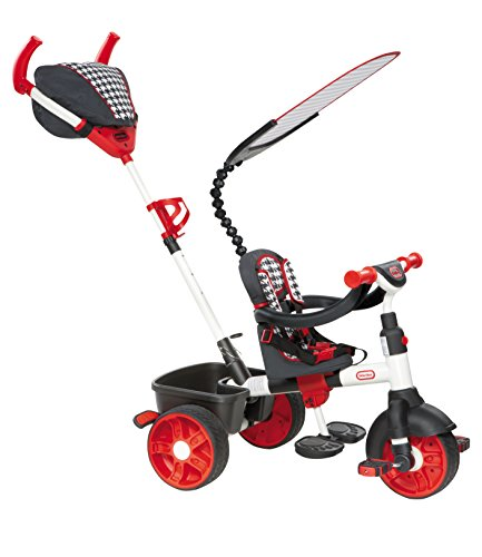 Little Tikes 4-in-1 Trike Ride On, Red/White, Sports Edition (Kiddo Smart Design 4 In 1 Trike)