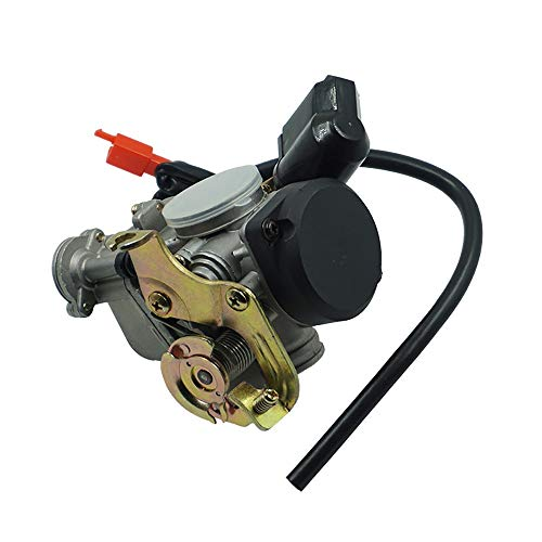 Easy to Install 18mm PD18J Motorcycle Carb Carburetor for GY6 50CC 139QMB  139QMA Scooter Jonway 50cc Useful (Color : Black)