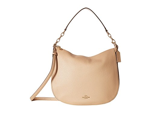 COACH Women's Polished Pebbled Leather Chelsea 32 Hobo Li/Beechwood One Size by Coach
