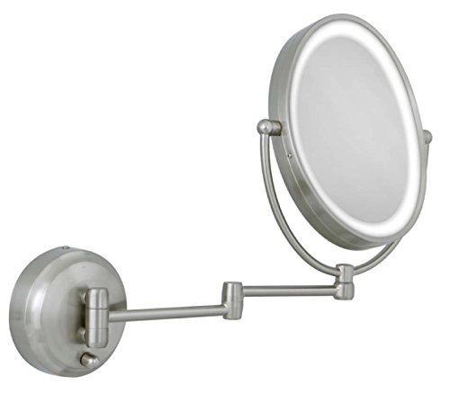 Zadro 10X/1X Next Generation LED Lighted Oval Wall Mount Mirror, Satin Nickel by Zadro (Image #4)
