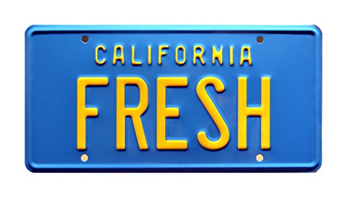 The Fresh Prince of Bel Air / Taxi / FRESH *METAL STAMPED* Vanity Prop License - Taxi Celebrity