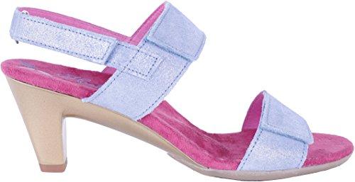 Helle Fashion Comfort WOMEN's 2 Velcro Slingback Sandal Edla Denim Size 36 by Helle Comfort