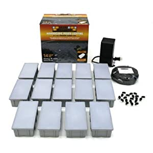 Kerr lighting residential paver lights 4 x 8 for How to install driveway lights